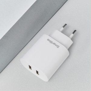 Snabb USB väggladdare med dubbla uttag